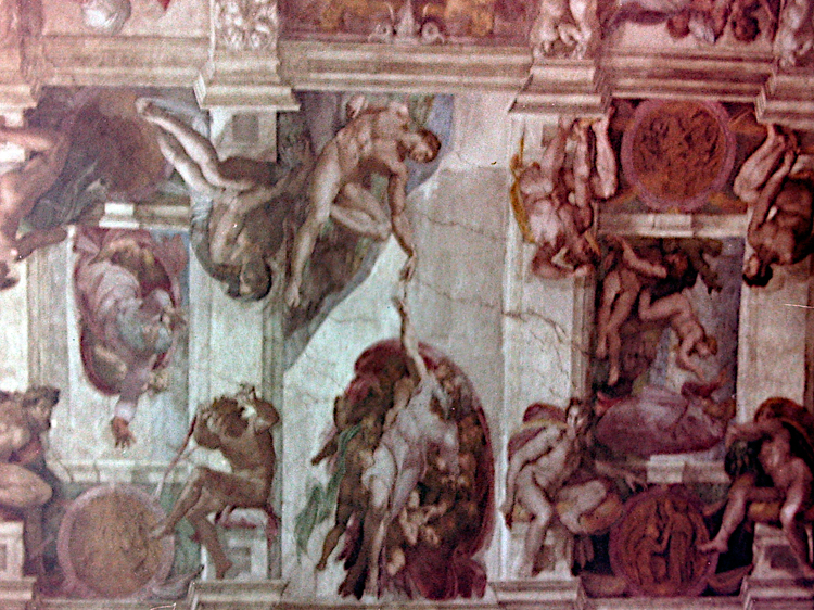 Vatican. Michelangelo's fresco in the Sistine Chapel.