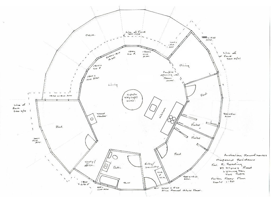 round house plan from Australian Yurtworks