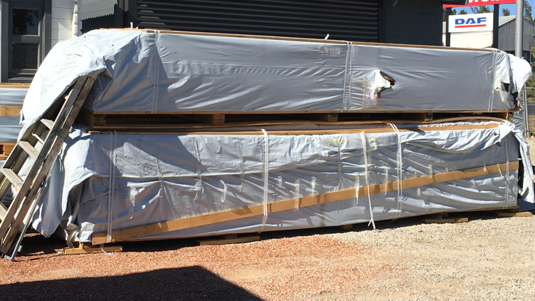 "The bespoke house ""Madeira"" all packed up and ready for delivery."