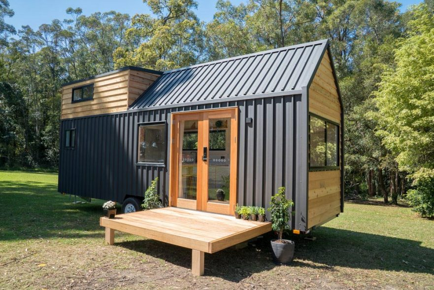 A typical Tiny House, a prefabricated house.