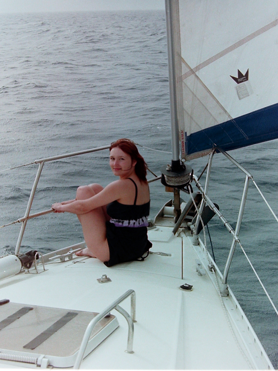 Lisa at sea