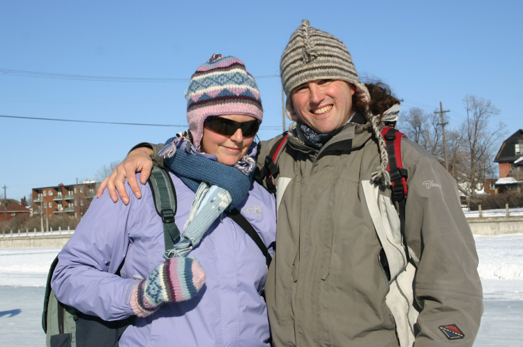Bronwyn and Reinhard on the ice at Ottawa