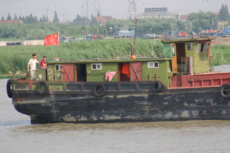 Family boat on the Huangpu River