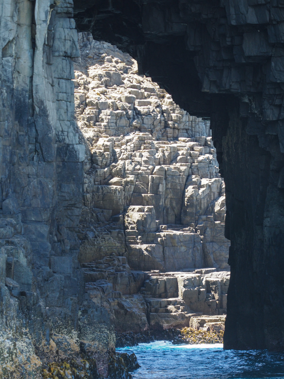 Dolerite arch at Fluted Cape, South Bruny Island