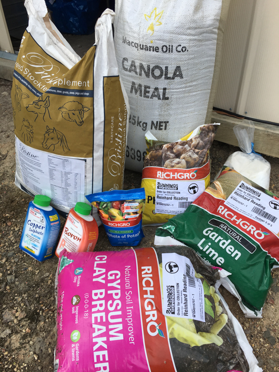 The ingredients for organic compost